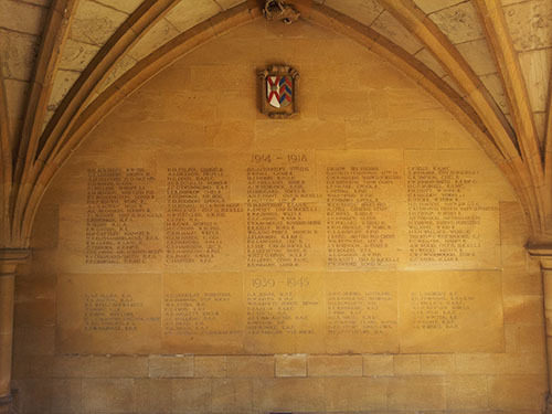 The Merton College War Memorial